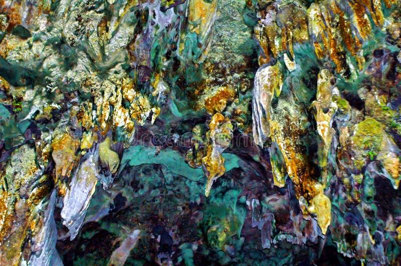 Callao Cave stalactites stock photo