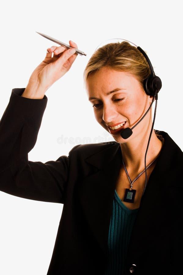callcenter arkivfoton