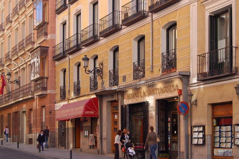 Calle马德里市长- 库存图片