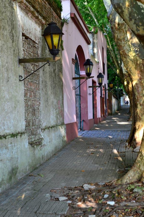 Calle -科洛尼亚德尔萨克拉门托 免版税库存图片