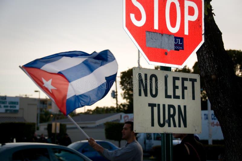 Calle 8迈阿密抗议 库存照片
