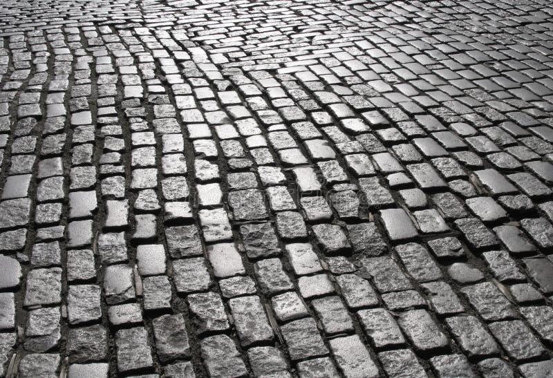Calle 2 del guijarro de Manhattan fotografía de archivo