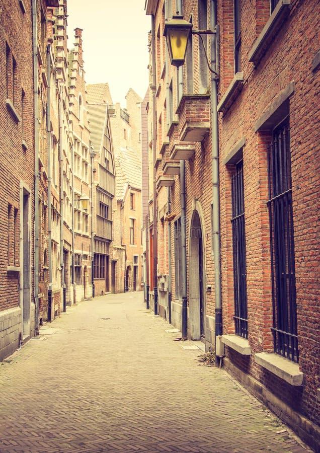 Calle Amberes del callejón imagen de archivo