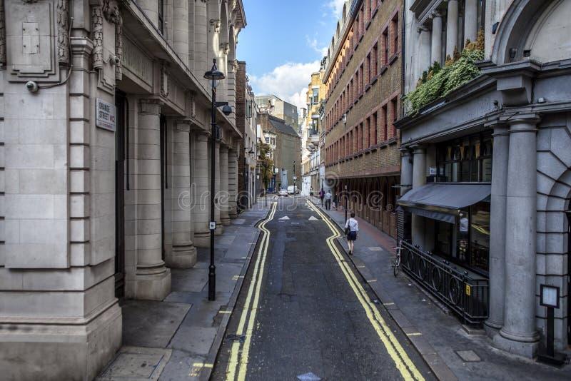 Calle anaranjada, Londres, Reino Unido fotografía de archivo libre de regalías