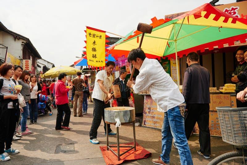 Calle antigua de las compras de China fotos de archivo libres de regalías