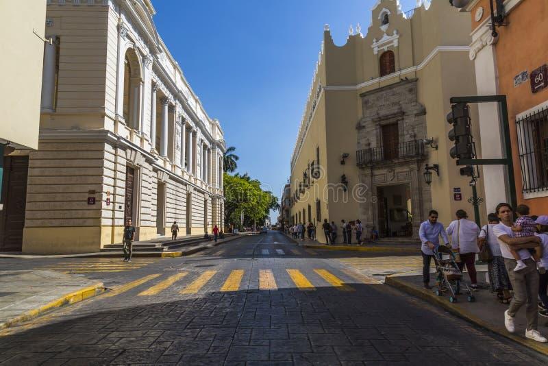 Calle central de la ciudad donde hay museos y escuelas fotografía de archivo libre de regalías