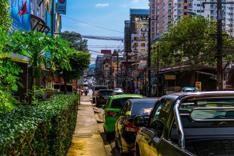 Calle común de Phuket, Phuket, Tailandia fotos de archivo
