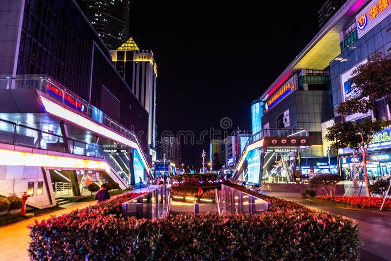 Calle comercial del norte 2 de Shenzhen Huaqiang fotos de archivo libres de regalías
