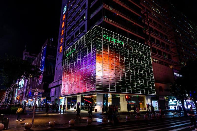 Calle comercial del norte 4 de Shenzhen Huaqiang fotos de archivo