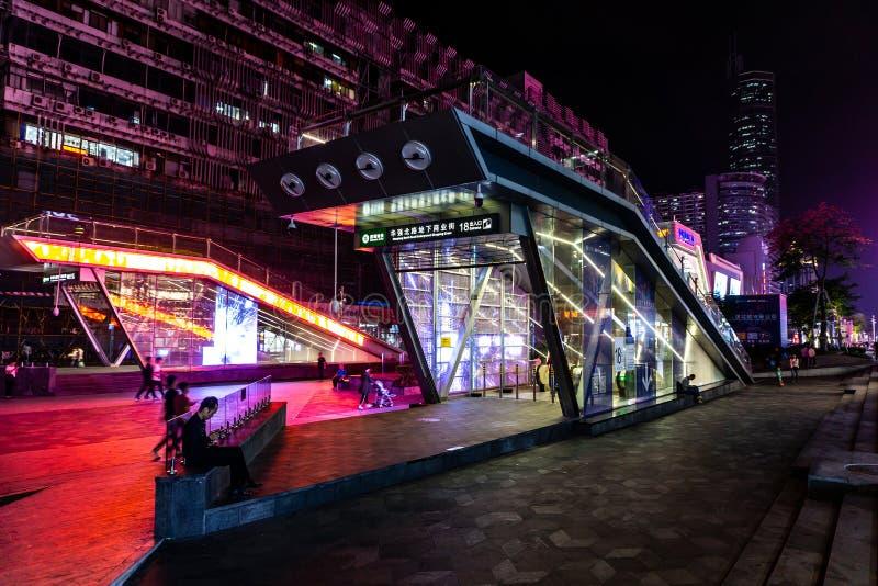 Calle comercial del norte 8 de Shenzhen Huaqiang imagenes de archivo