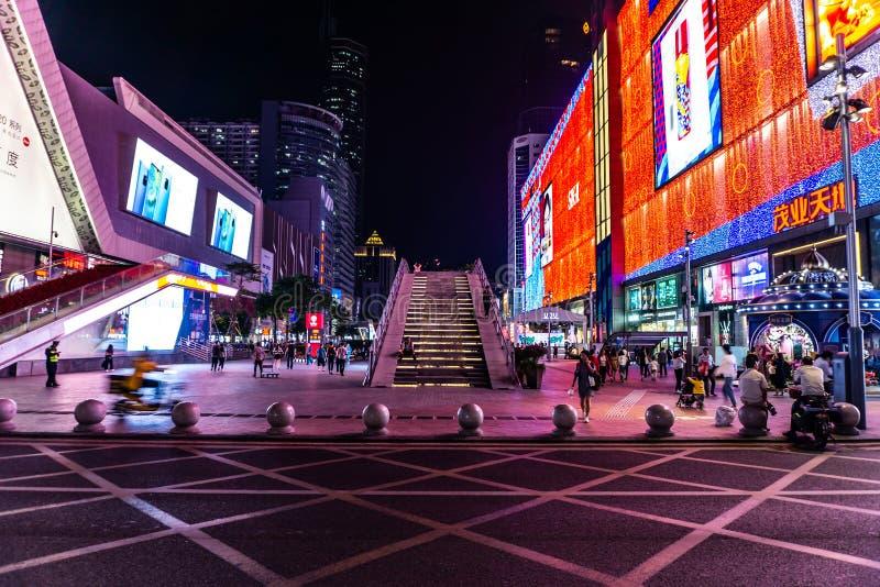 Calle comercial del norte 10 de Shenzhen Huaqiang fotografía de archivo