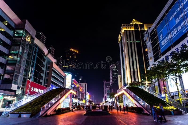 Calle comercial del norte 15 de Shenzhen Huaqiang imagen de archivo