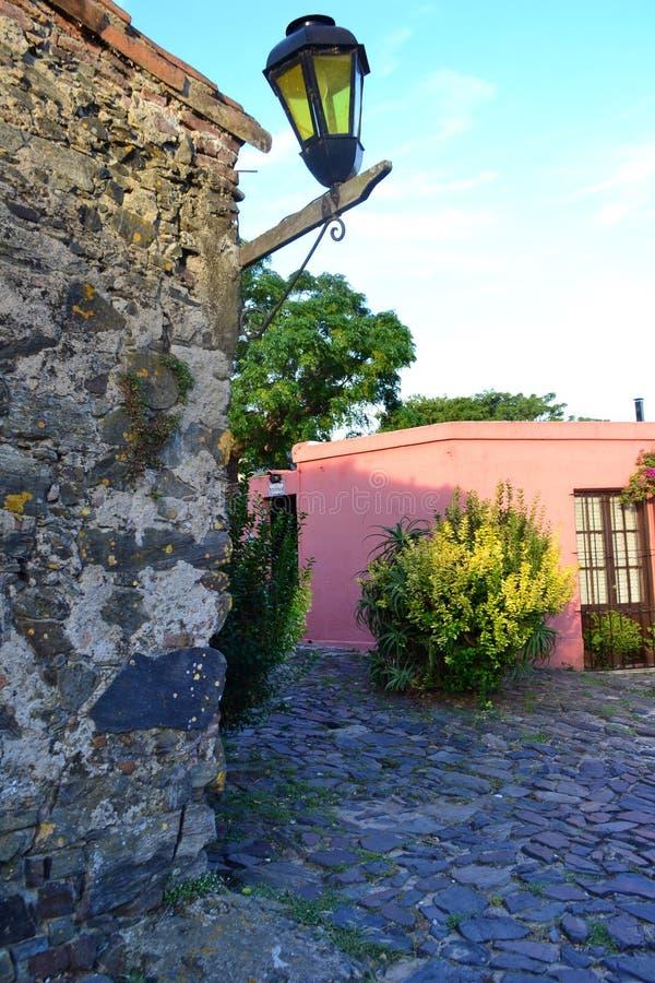 Calle de科洛尼亚省de萨加门多 免版税库存照片