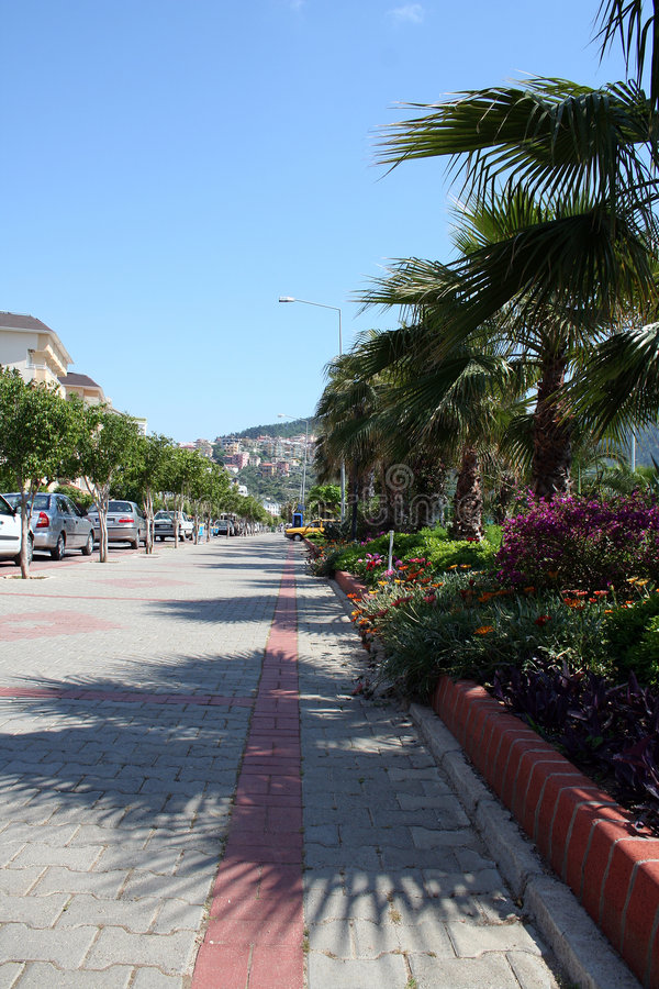 Calle de Alanya foto de archivo libre de regalías