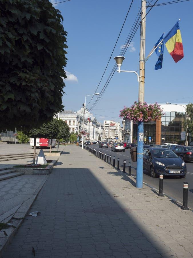 Calle de Alexandru Ioan Cuza, Craiova, Rumania imagenes de archivo