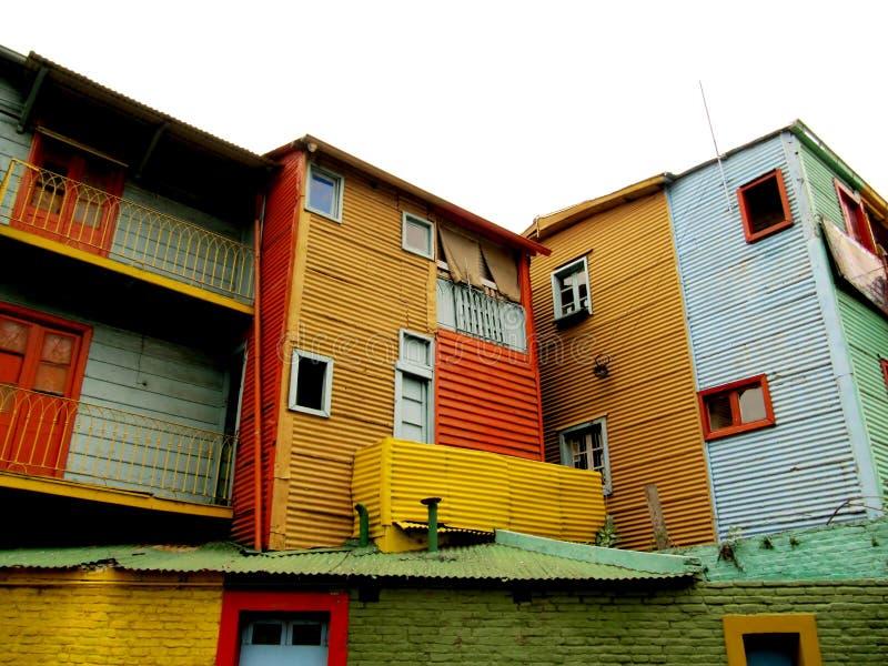 Calle de ?aminito, vista del Buenos Aires fotografía de archivo libre de regalías