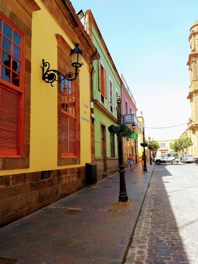 Calle de Arucas στοκ φωτογραφία με δικαίωμα ελεύθερης χρήσης
