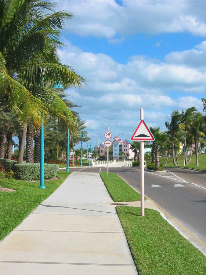 Calle de Bahamas fotos de archivo libres de regalías