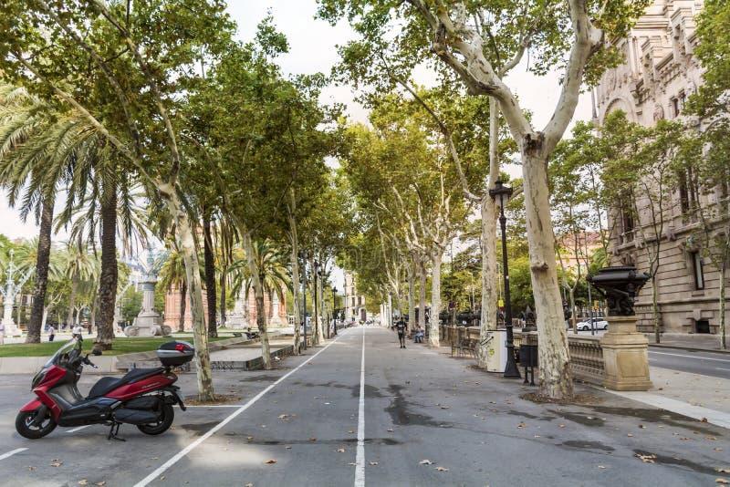 Calle de Barcelona imagen de archivo libre de regalías