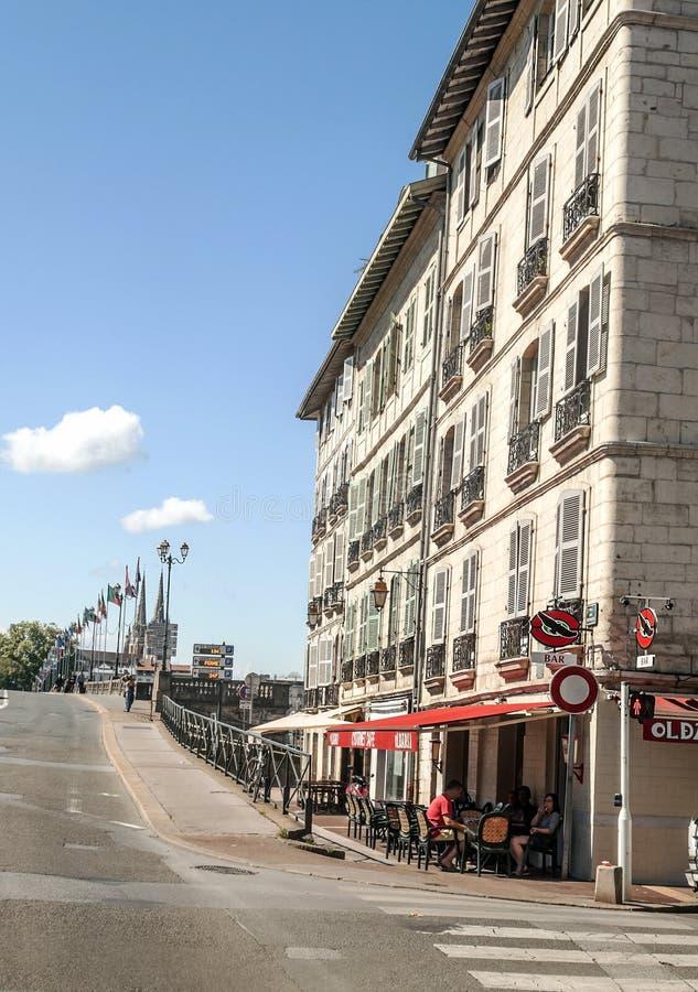 Calle de Biarritz foto de archivo libre de regalías
