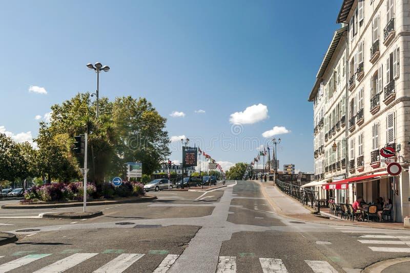 Calle de Biarritz fotos de archivo libres de regalías