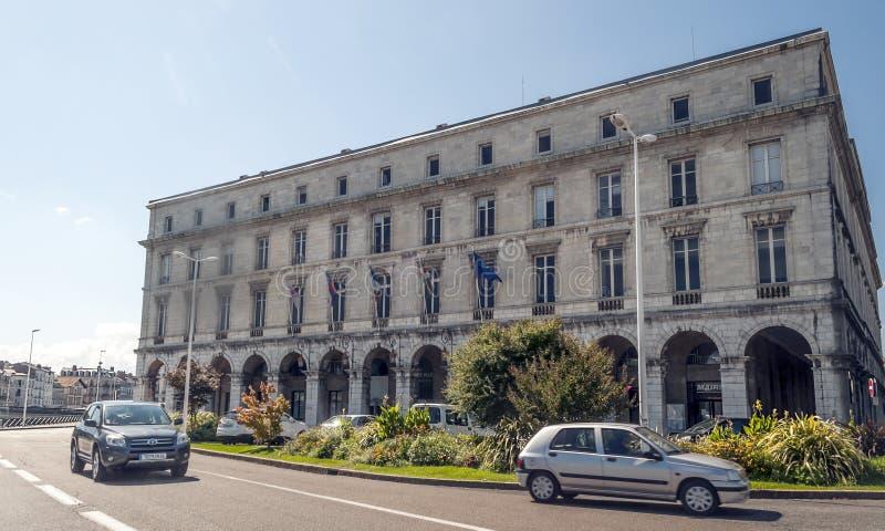 Calle de Biarritz fotografía de archivo libre de regalías