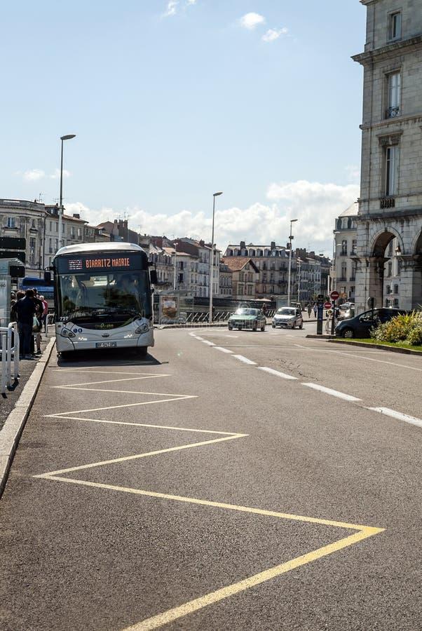 Calle de Biarritz fotos de archivo
