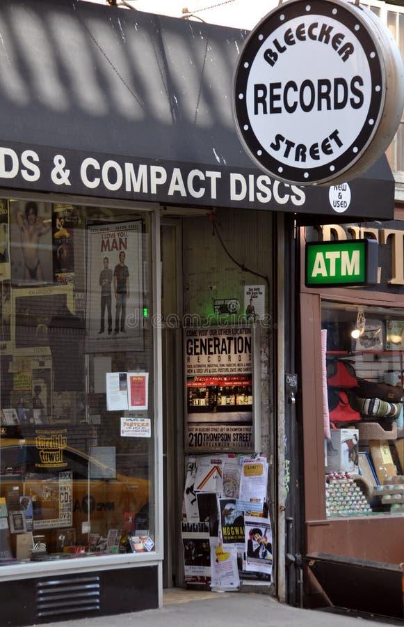 Calle de Bleeker, Greenwich Village Nueva York imagen de archivo