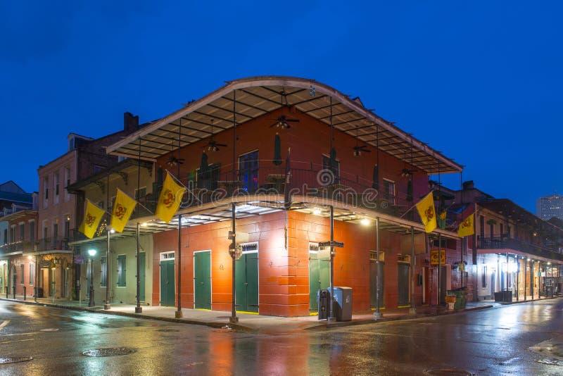 Calle de Borbón en el barrio francés, New Orleans foto de archivo libre de regalías