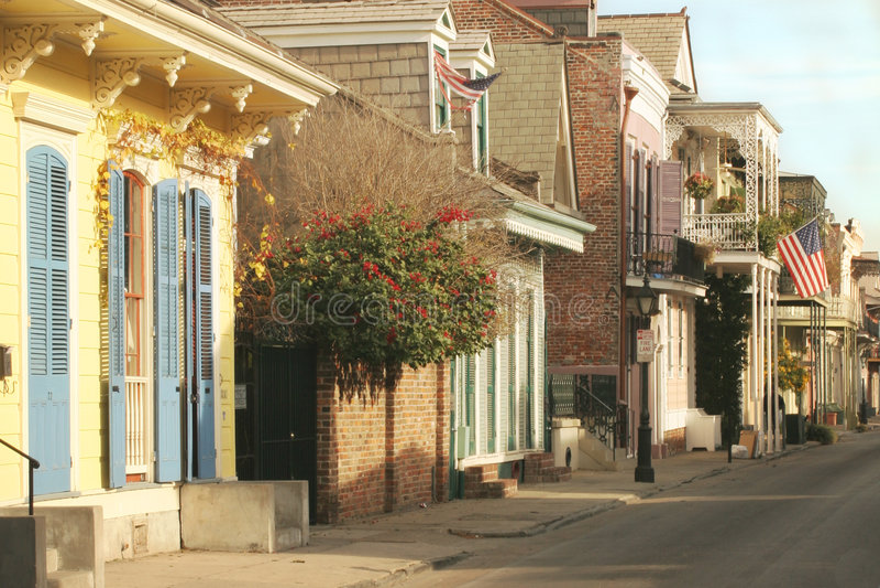 Calle de Bourbon fotos de archivo libres de regalías