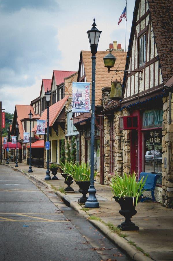 Calle de Branson céntrico histórico, Missouri imágenes de archivo libres de regalías