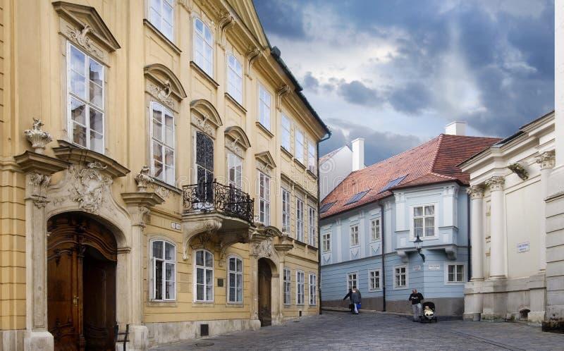 Calle de Bratislava foto de archivo libre de regalías