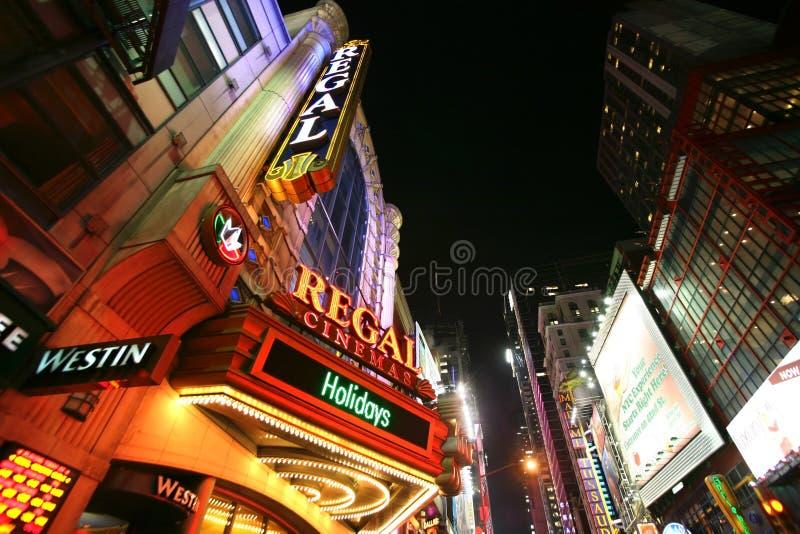 Calle de Broadway, calle de Nueva York foto de archivo libre de regalías
