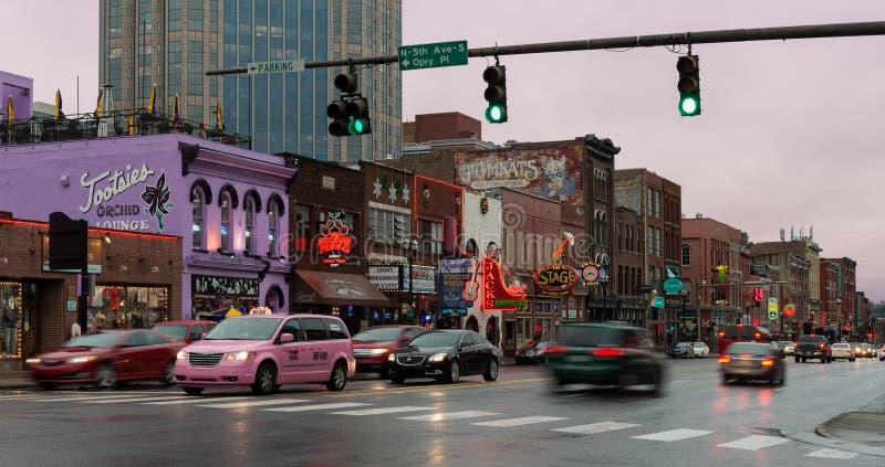 Calle de Broadway en Nashville foto de archivo libre de regalías