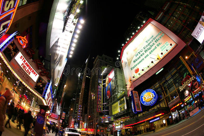Calle de Broadway, Nueva York imágenes de archivo libres de regalías
