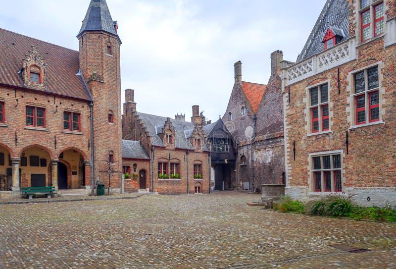 Calle de Brujas foto de archivo