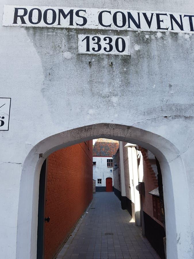 Calle de Brujas fotografía de archivo