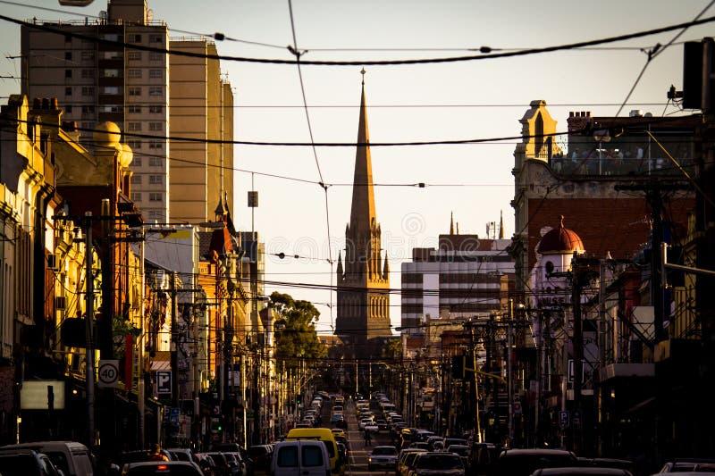 Calle de Brunswick, Fitzroy imagenes de archivo