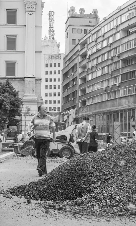 Calle de Bucarest imagenes de archivo