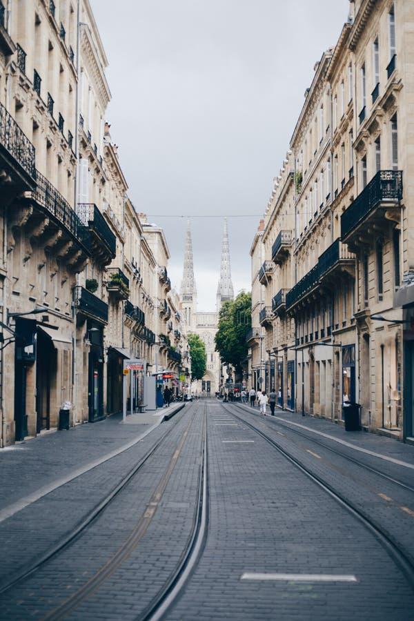 Calle de Burdeos por la tarde fotos de archivo