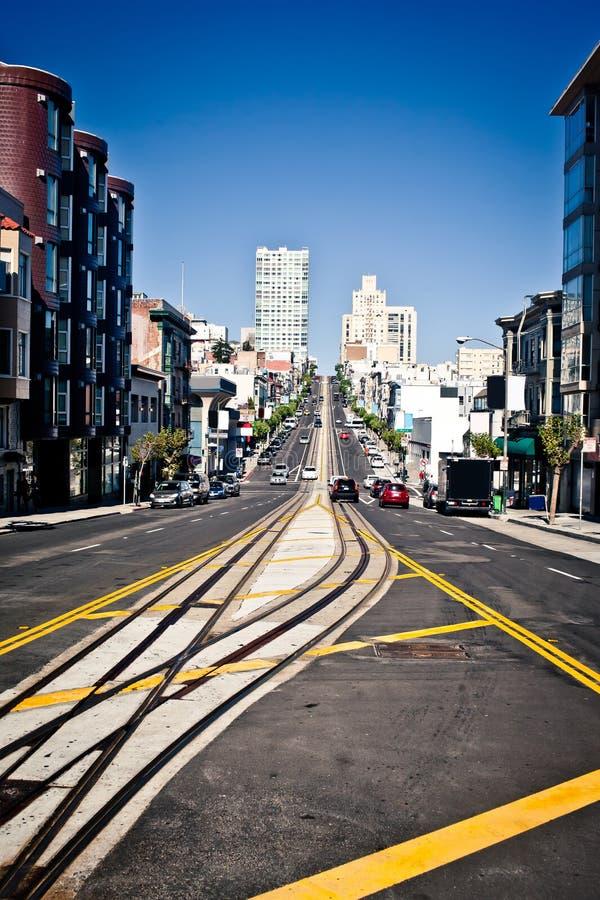 Calle de California en San Francisco imagenes de archivo