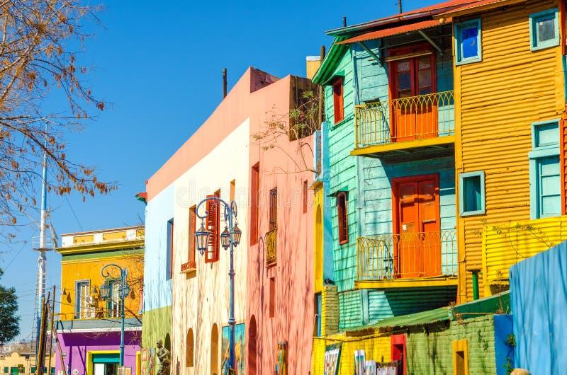 Calle de Caminito en Buenos Aires fotografía de archivo libre de regalías