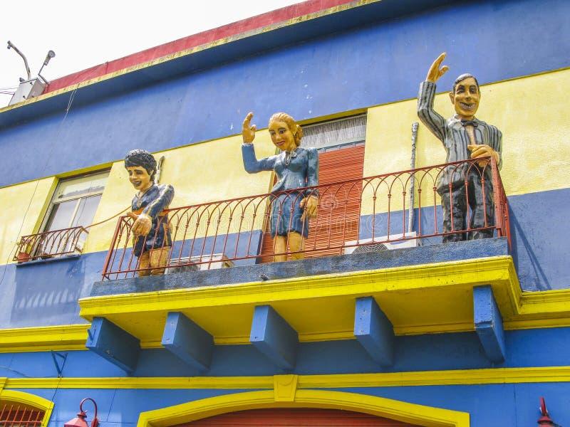 Calle de Caminito en el La Boca fotografía de archivo