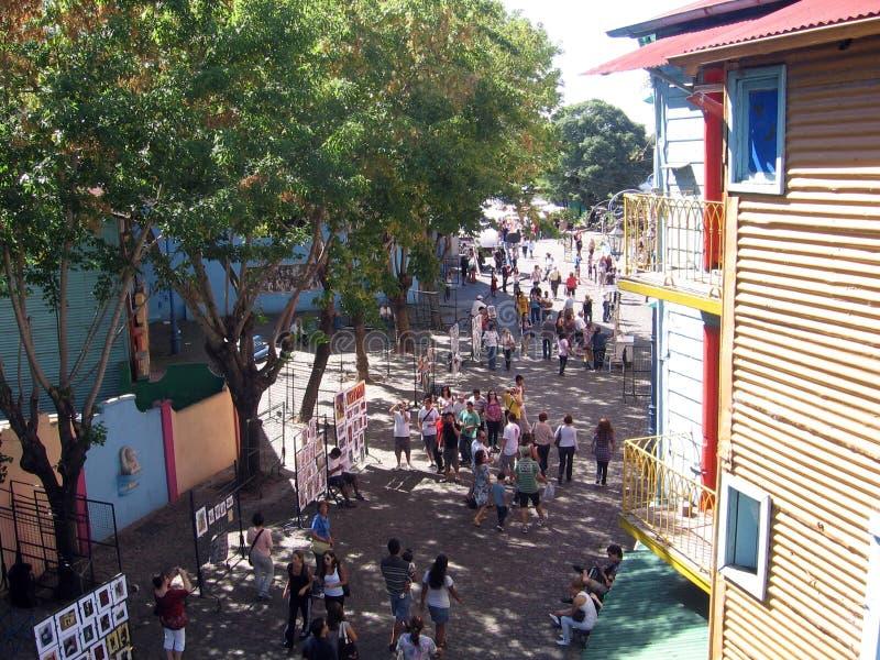 Calle de Caminito en el La Boca Argentina foto de archivo