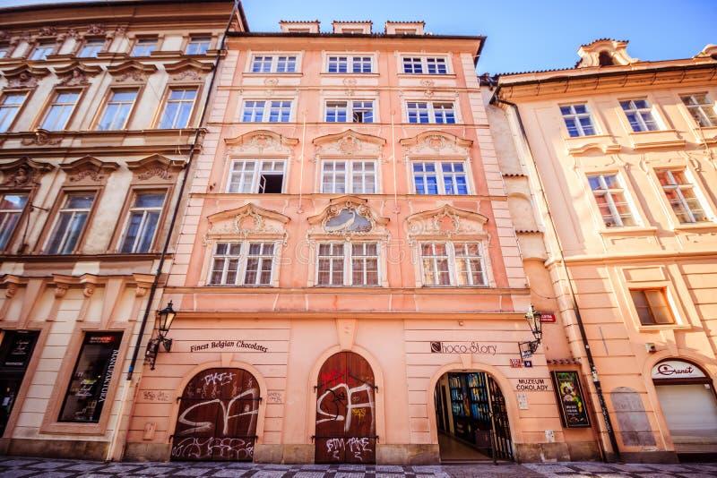 Calle de Celetna en Praga, República Checa imagen de archivo libre de regalías