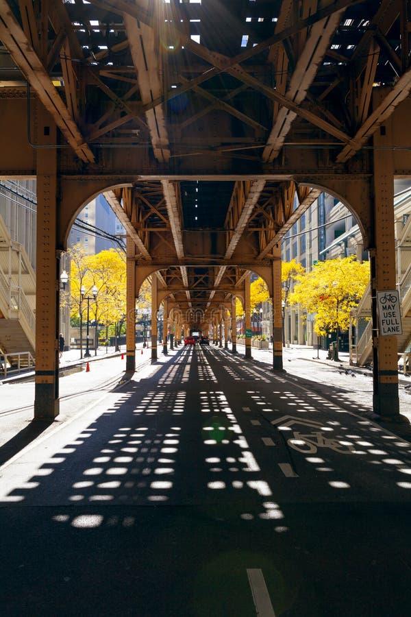 Calle de Chicago fotos de archivo