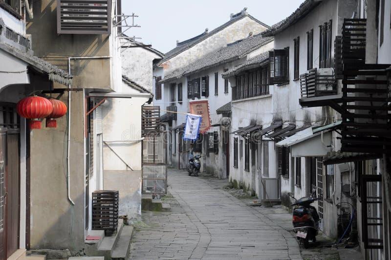 Calle de China de la provincia de Jiangsu de la ciudad de Tongli foto de archivo