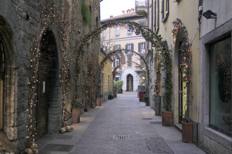 Calle de Como foto de archivo