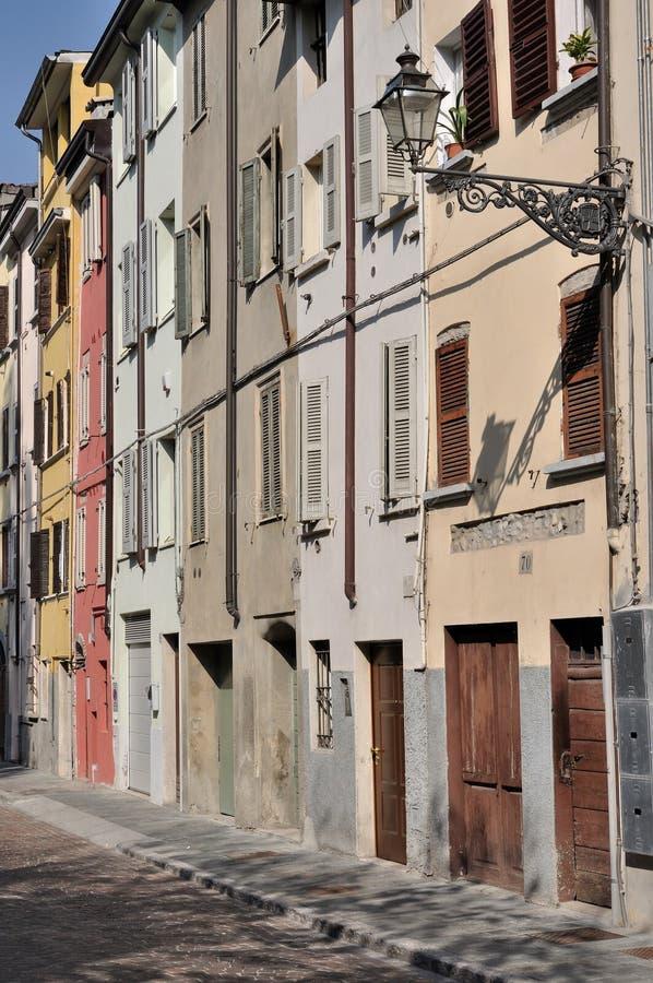 Calle de Dalmazia, Parma fotos de archivo libres de regalías