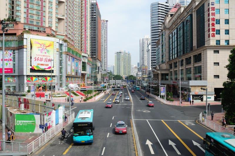 Calle de Dongmen imagenes de archivo